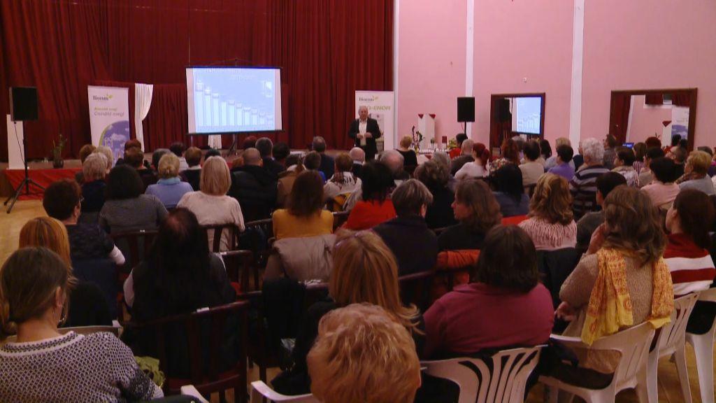 Szabó Szigfrid reflexológus tartott előadást Sátoraljaújhelyen