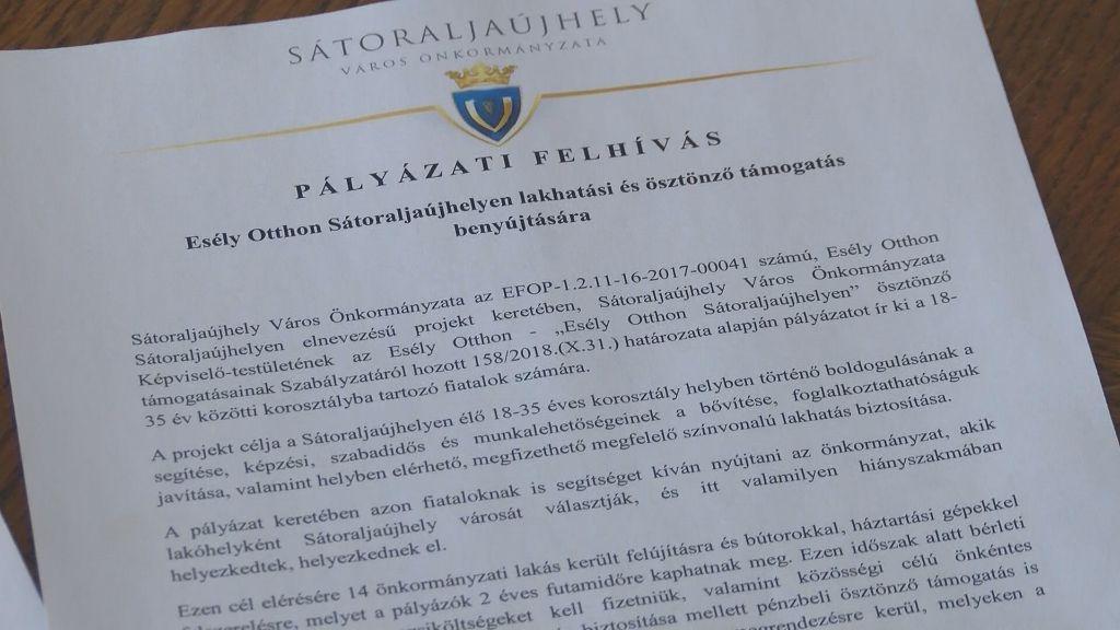 Esély Otthon Sátoraljaújhelyen: már letölthető a pályázati felhívás