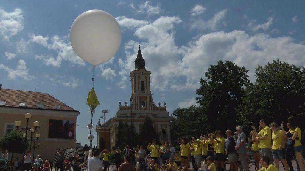 Sztratoszféra-ballont reptettek a magasba Sátoraljaújhelyen