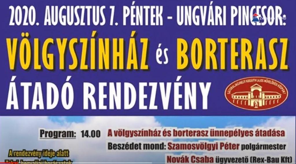 Holnap ünnepélyes keretek között adják át a Völgyszínház és Borteraszt az Ungvári Pincesoron