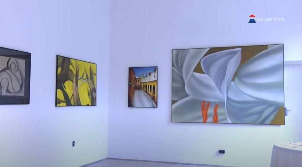 Sefcsik Viktor felvidéki magyar festő kiállítása nyílt meg a Zempléni Galériában