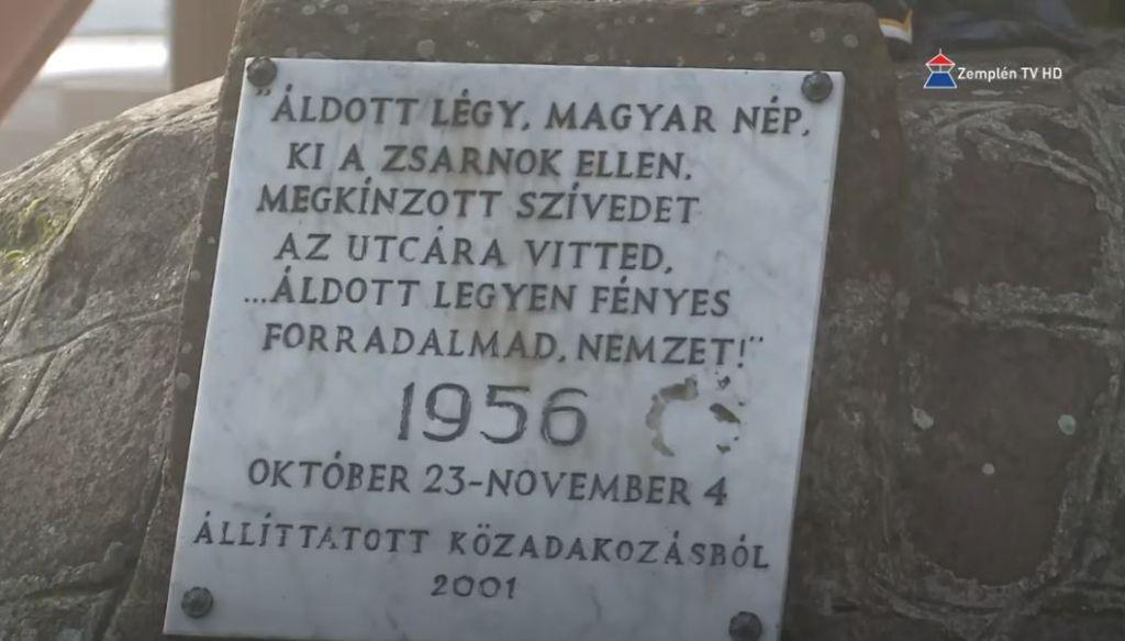 1956-os megemlékezés Sátoraljaújhelyen