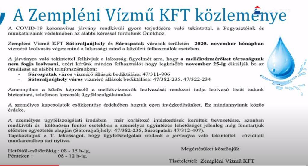 December 25-ig várják a mellékvízórával rendelkezők óraállását a Vízmű Kft. tulajdonosai