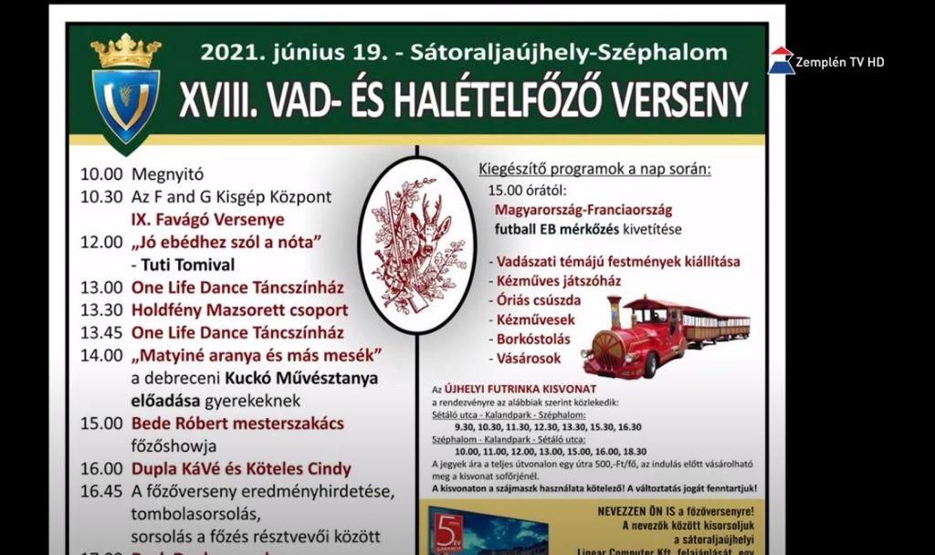 Már 18-ik alkalommal rendezik meg Sátoraljaújhely - Széphalmon a Hal- és Vadételfőző versenyt